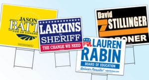 yard signs with stakes
