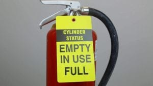 Fire Extinguisher Tags - Fill Status
