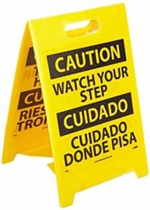fold flat floor warning signs