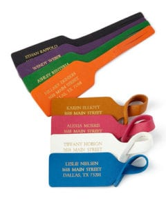Luggage Identification Tag Samples