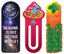 Plastic promotional bookmarks