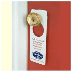 Custom Door Knob Hangers or Hang Tags Printing