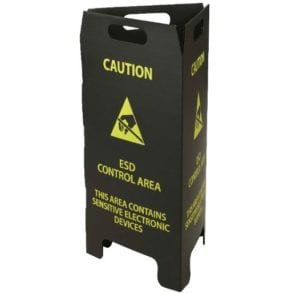 custom fold flat warning sign printing