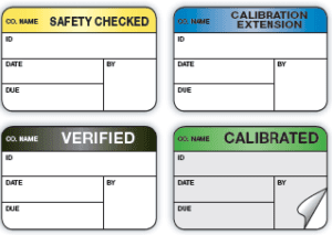 medical equipment inspection and maintenance decals