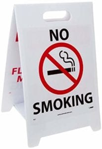 floor no smoking sign printing