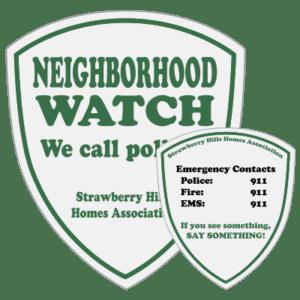 neighborhood watch decals and stickers