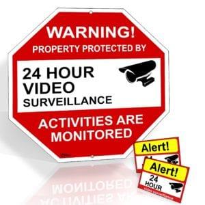 video surveillance stickers and decals