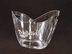 liquor brand decals on glass