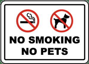 No Smoking No Pets Decal Printing