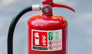 super tac decal on fire extinguisher