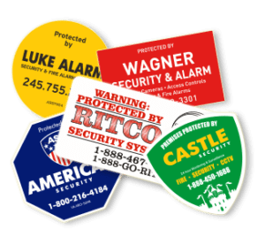 security monitoring decals