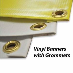 custom vinyl banners with grommets