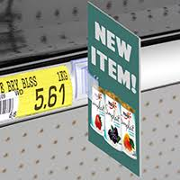 Shelf talkers, an example of retail sign printing we offer