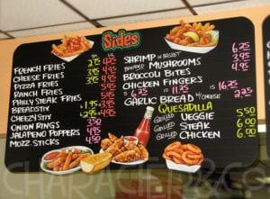 menu board printing