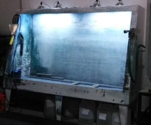 """Majestech 50"""" x 96"""" Top Lit Screen Wash Booth near me"""