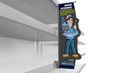 shelf violator - aisle violator - shelf blade